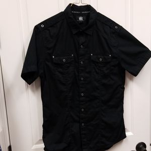 Rock & Republic black button down shirt...sz M